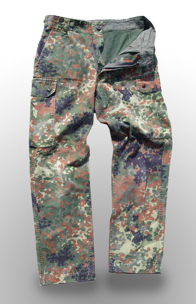 German Army Flecktarn Trousers - state length when ordering
