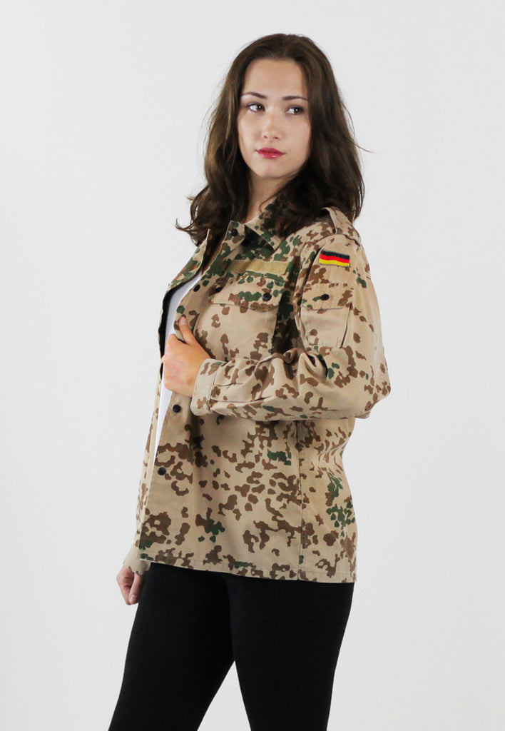 Womens Vintage Army German Desert (Tropentarn) Jacket/Shirt
