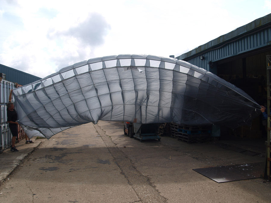 Grey Parachute Canopy - British Army Surplus