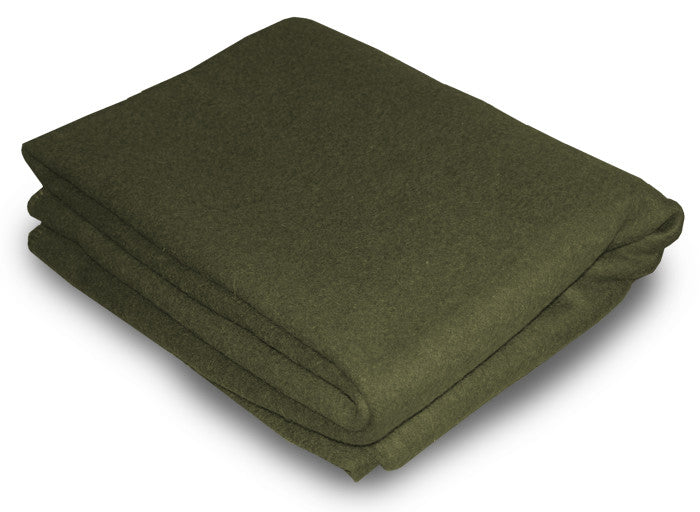 Olive green military woollen blankets