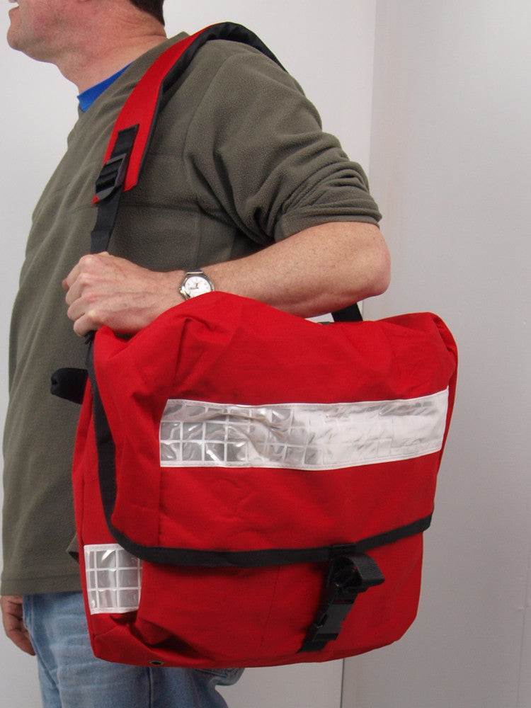 Large Red Waterproof Shoulder Bag - Ex Royal Mail