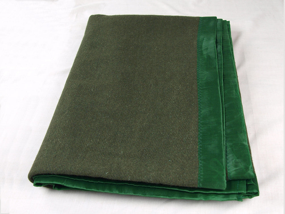 Olive Green Wool Military Blanket