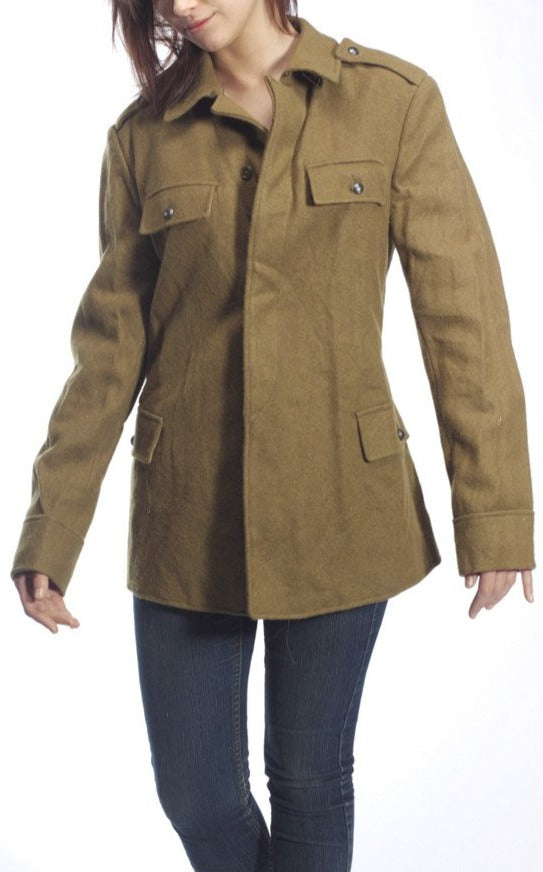 Romanian Military Womens Vintage Wool Jacket