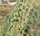 Large army issue woodland camo net