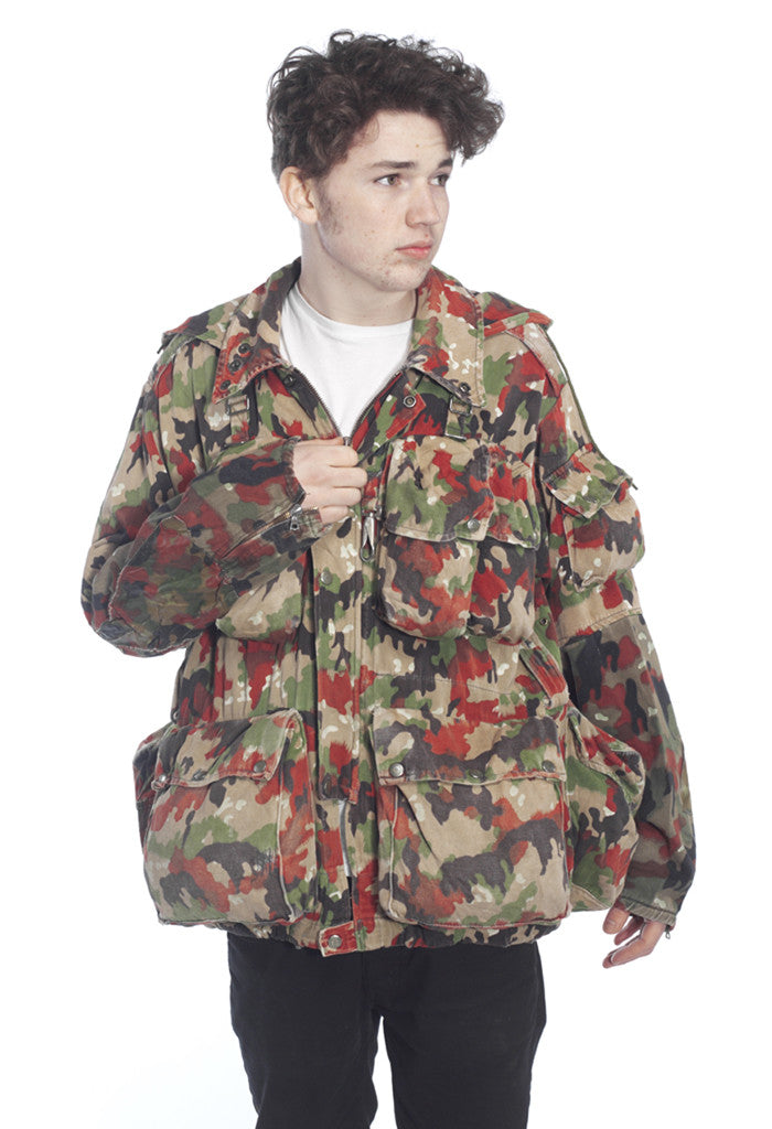 Swiss 'Alpenflage' Camo Load Carrying Combat Jacket