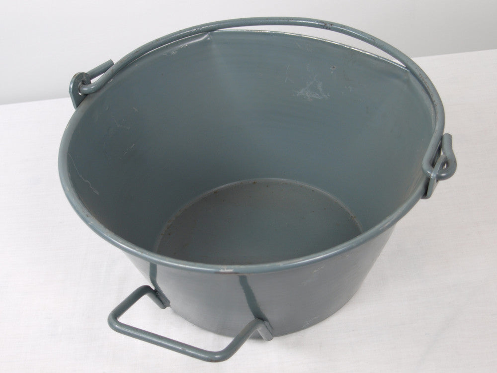Steel Flat Sided Bucket - Swiss Army Surplus