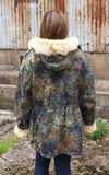Vintage Fur Trimmed Camo Parka Jacket Back