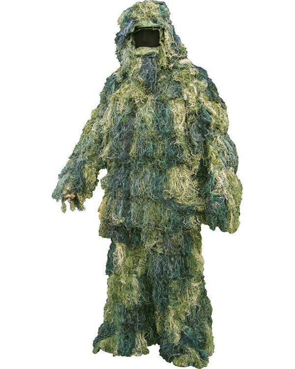 Woodland Camouflage Ghillie Suit - Hessian/Burlap – new