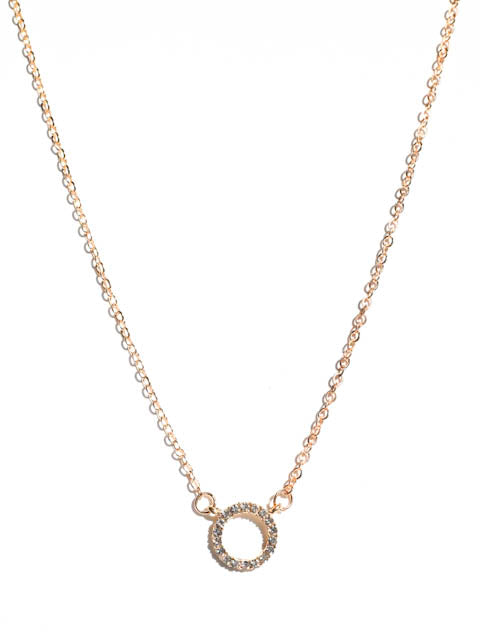 Open Circle Charm Necklace