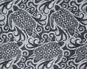 Tapa Patterns with Stylized Honu