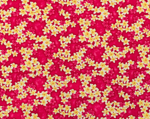 Clusterd plumeria (Frangipani) layered over tonal clusters.