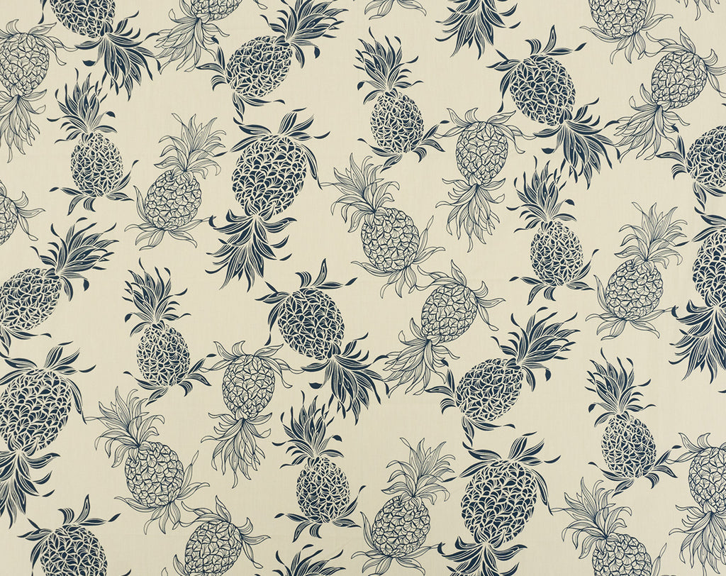 CT-007R3 Cream/Navy - TrendtexFabrics