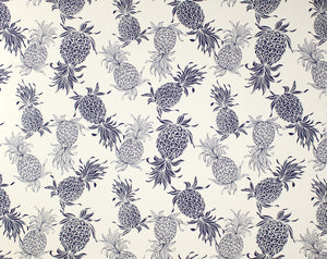 CT-007 Cream/Navy (Cotton Twill) - TrendtexFabrics