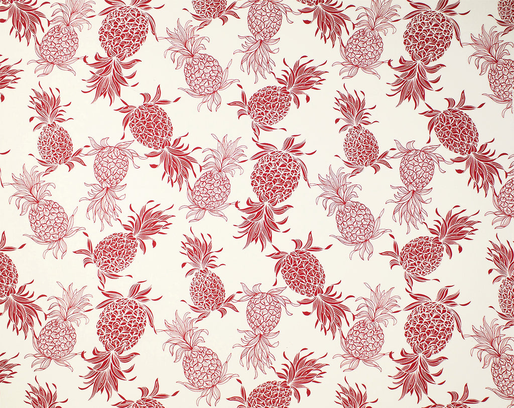 CT-007 Cream/Red (Cotton Twill) - TrendtexFabricsPineapple Pattern