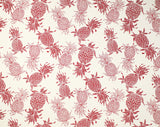 CT-007 Cream/Red (Cotton Twill) - TrendtexFabrics