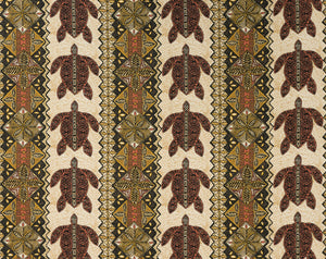 EH-3H18 Charcoal (Cotton Dobby) - TrendtexFabricsTribal Patterns With Honu