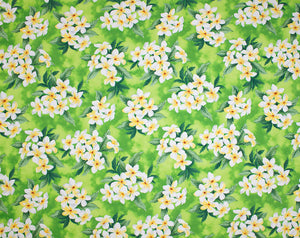 EH-F247R Lime - TrendtexFabricsClustered plumeria and leaves over a water color wash ground.
