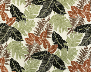 FS-006 Cream - TrendtexFabrics Monstera and Palm Leaves All-Over