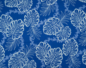 GD-006 Royal - TrendtexFabricsMonstera Leaves over Lei Pattern