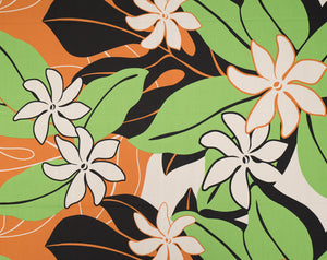 GD-008 Black - TrendtexFabricsTiare Flowers with Leaves