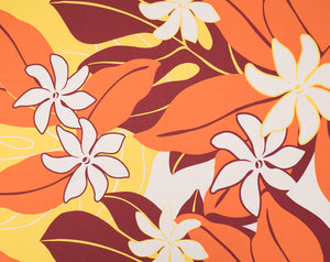 GD-008 Burg - TrendtexFabricsTiare Flowers with Leaves