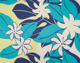 GD-008 Navy - TrendtexFabricsTiare Flowers with Leaves