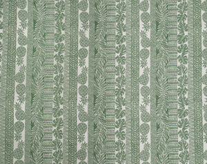 Tapa/Woodblock Styled Pattern with Pineapples, Monstera, and Palm Fronds