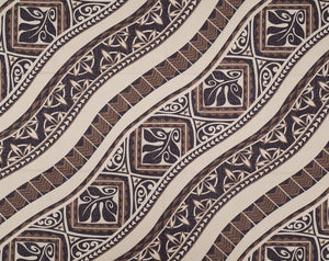 GE-008 Brown - TrendtexFabricsWoodblock Styled Tapa Pattern