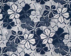 GH-005 Navy - TrendtexFabrics Monotone Pareo Styled Florals