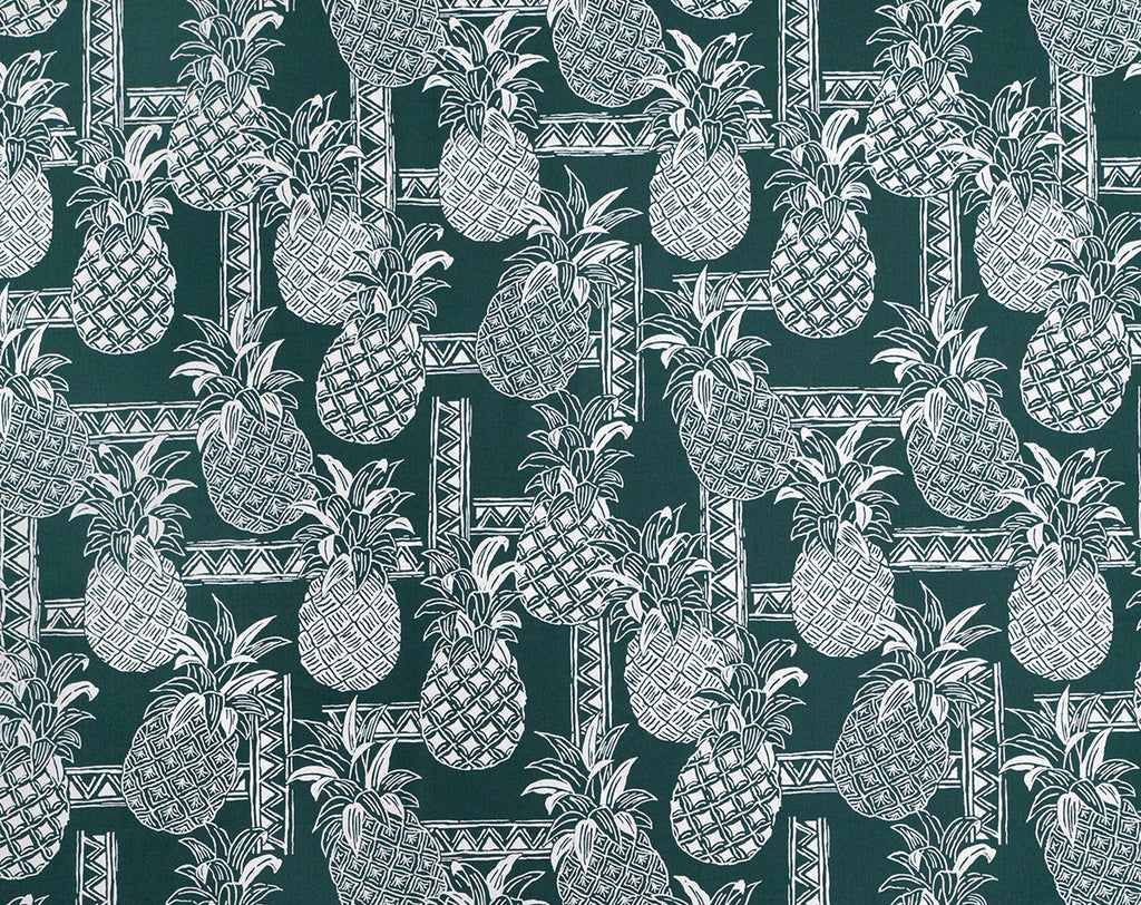 Etched Styled Pineapples and Tapa Patterns