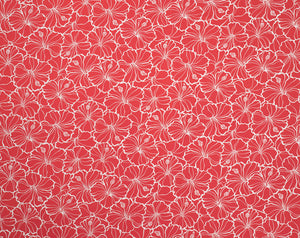 Monotone Hibiscus Outline Pattern