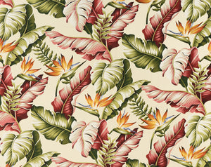 H-9202 Natural - TrendtexFabricsBanana Leaves & Bird of Paradise