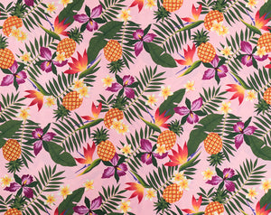 Pineapples with Plumeria and Bird of Paradise