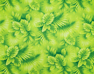 HD-018 Lime - TrendtexFabricsWatercolor Styled Monstera Leaves
