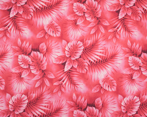 HD-018 Red - TrendtexFabricsWatercolor Styled Monstera Leaves