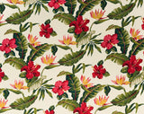 HS-021 Cream - TrendtexFabricsHibiscus and Bird of Paradise