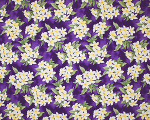 EH-F247R Purple - TrendtexFabricsClustered plumeria and leaves over a water color wash ground.