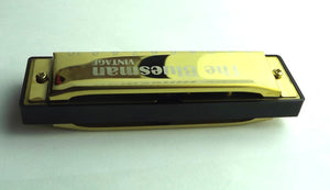 Bluesman Vintage Harmonica Boxed sets of 3 harmonicas Gold Edition