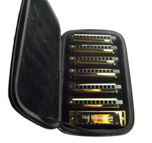 Load image into Gallery viewer, Bluesman Vintage set of 7 harmonicas - GOLD Edition