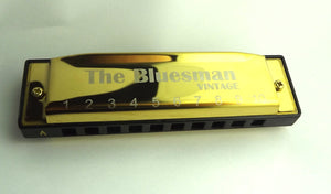 Bluesman Vintage set of 7 harmonicas - GOLD Edition