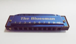 Bluesman Vintage set of 7 harmonicas - BLUE Edition