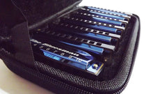 Laden Sie das Bild in den Galerie-Viewer, Bluesman Vintage set of 7 harmonicas - BLUE Edition