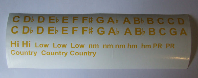 Harmonica Key Stickers