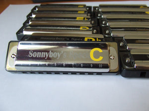 Extra Large Harmonica Key Stickers for easy identification - key label marker