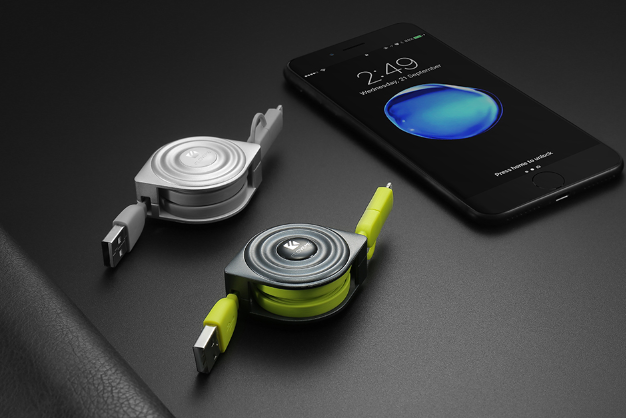 High Quality 2 in 1 Retractable Phone Cable For iPhone and Android - SmartwarePro