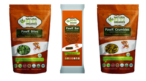 Pet Product News Features PAWR™ Bars & Treat Bites for Dogs Natura Petz Organics March 2017
