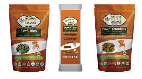 Natura Petz Organics PawR Treat line for dogs organic dog treats organic dog meal bars