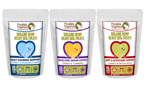 pet product news features petabis organics hemp heart dog treats dog cbd dog hemp treats