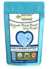 Natura Petz Organics Hemp Heart Calming Dog Treats Dog Calming Treat Dog Hemp Treat