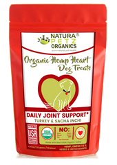 Natura Petz Organics Hemp Heart Joint Dog Treats Dog Joint Treat Dog Hemp Treat